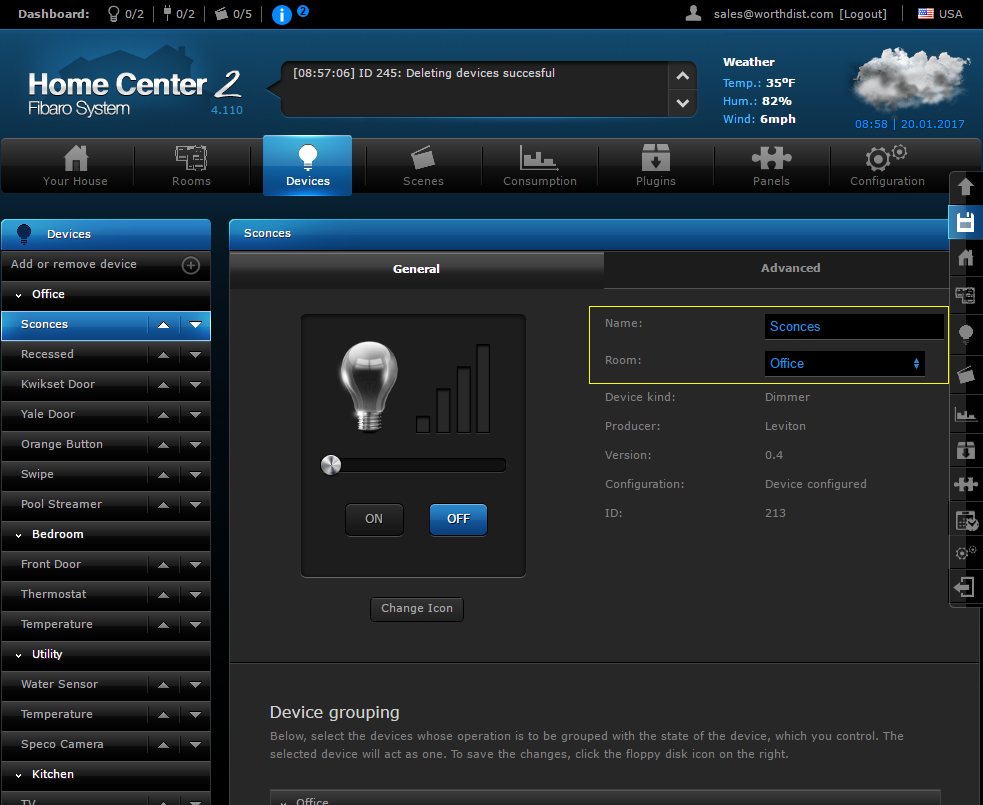 Fibaro Device Settings