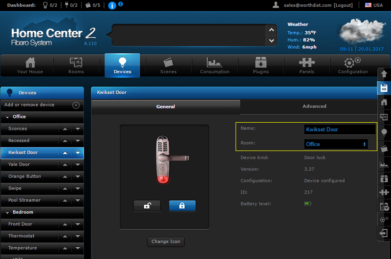 Fibaro Lock Settings